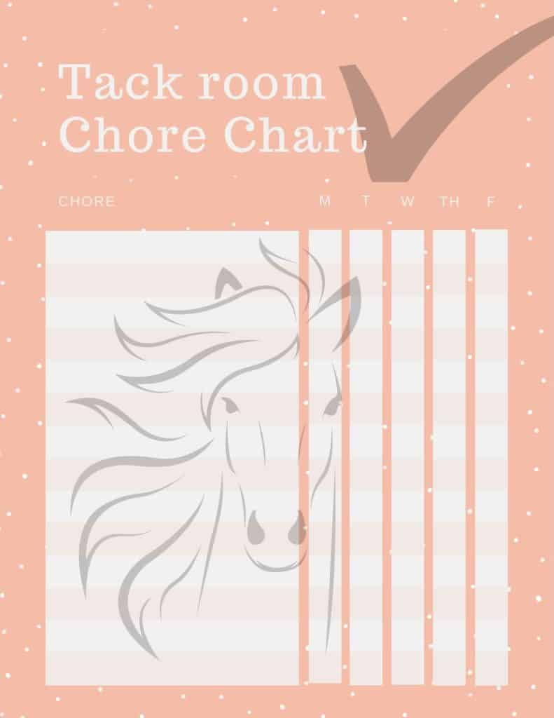 Tack room chore chart download